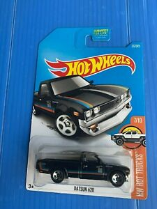 Hot Wheels Hot Trucks Datsun 620 Black  FREE Protector