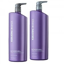 Keratin Complex Blonde Shell Shampoo & Conditioner Duo 1lt With PUMPS Aus Stock