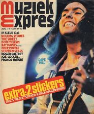 MAGAZINE MUZIEK EXPRES 1972 nr. 200 - DAVE HILL/DEEP PURPLE/ROLLING STONES/WHO