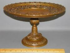 Antique Neoclassical Bronze Tazza Compote Centerpiece Figural-Dragons-Lions 12""