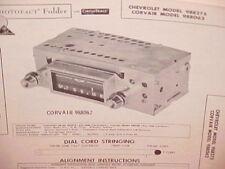1960 CHEVROLET CORVAIR MONZA IMPALA CONVERTIBLE BELAIR AM RADIO SERVICE MANUAL
