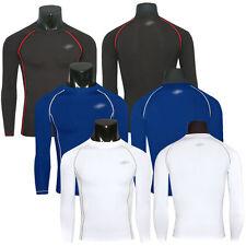 Herren Gym Kompression Funktionsshirt Langarm T-Shirt Base Schicht Top Unterhemd