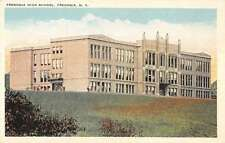 Fredonia New York High School Street View Antique Postcard K34187