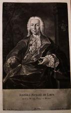 1744 Loen Johann Michael von Lingen Schabkunst-Porträt Haid Eichorn