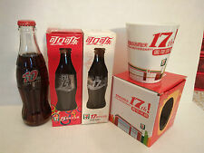 Coca Cola 7-11 store 101517 Anniversary Coke Bottles+mug(ONLY SHIPPING IN USA)