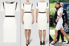 Jaeger White And Navy Dress, Size 16, As Seen On