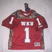 Western Kentucky WKU Hilltoppers Youth Medium Jersey Realtree Camo Made In USA
