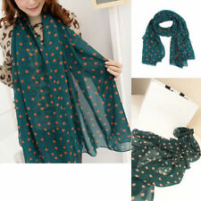 Fashion Women Girls Long Wrap Lady Shawl Polka Dot Chiffon Scarf Scarves Stole