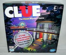Hasbro ©2013 CLUE Classic Mansion Murder Game with 2nd Crime Scene!  COMPLETE