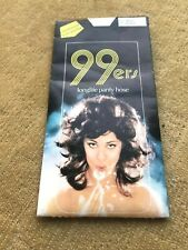99ers Longlife Panty Hose-Mids B-White-Reinforced brief & toe-Australian.1980's.