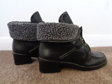 GABOR BLACK 100% LEATHER ANKLE BOOTS SIZE 4.5 GREAT CONDITION
