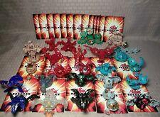 Bakugan Lot of 25 + 23 cards Quake Dragonoid 1000g High G Power 1100g 730g N