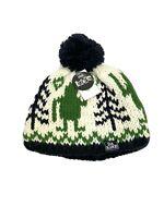 DAKINE Youth Beanie Pompom Hat Fair Isle Chunky Knit Bigfoot Ski New with Tags