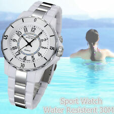 Couples Gifts LED Analog Quartz Waterproof Men's Women's Stainless Steel Watch