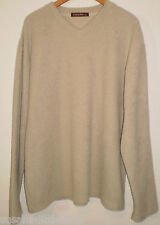 Moto Mens Stone V-Neck Long Sleeved Warm Jumper Sweater Top, Size XL