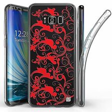 For Samsung Galaxy S8 Plus,Tri Max Transparent Full Body Case Cover SWIRL