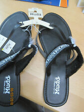 NEW w tags MUDD Flip Flops Sandals Black Size L 9-10