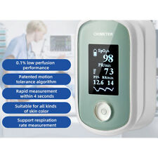 4 Parameter Finger Pulse Oximeter Blood Oxygen Saturation SPO2 Monitor Oximeter
