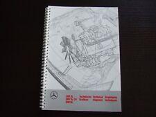 MERCEDES Prospekt Technische Grafiken 300SL 300SL-24 500SL · 1989