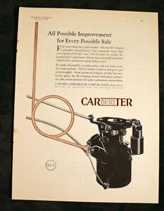 Carter Carbureters Carburetors Antique Ad 1929