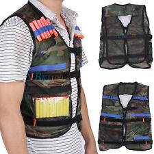 Adjustable Tactics Vest Jacket for 12 Darts Gun Accessories Nerf N-Strike Green