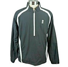 FootJoy Men Half Zip Pullover Windbreaker With Logo Black White - Size Large