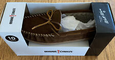 NIB Men's Minnetonka Mankato Trapper II Whiskey Slippers sz 10M