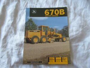 John Deere 670B motor grader brochure