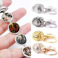 Expanding 4 Photo Locket Key Chain Angel Wing 4 Color Birthday Lover Memorial