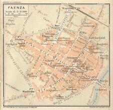 Carta geografica antica FAENZA Pianta della città Ravenna 1916 Old antique map