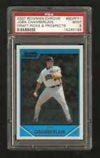 2007 BOWMAN CHROME ROOKIE JOBA CHAMBERLAIN #BDPP71 PSA 9 MINT DRAFT PICKS & PROS