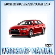 MITSUBISHI LANCER CJ 2008-2013 WORKSHOP SERVICE REPAIR MANUAL IN DVD