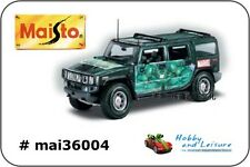 Maisto 36004 1:18 scale. HULK HUMMER H2 SUV MARVEL Brand New In Unopened Box