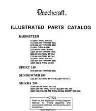 Beechcraft Musketeer, Sport 150, Sundower 180, Sierra, Sierra 200 Parts Catalog