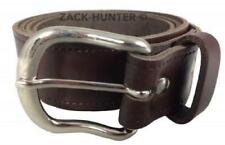 """MENS REAL LEATHER BELT BROWN 1"""" GENUINE LEATHER BELTS MADE IN ENGLAND 26"""" - 55"""""""