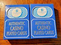 2 Decks Treasure Island Casino Las Vegas Blue Playing Cards.