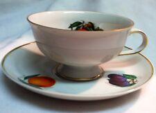 Collectible Porcelain Tea Cup & Saucer Bavaria Germany Golden Crown Harvest