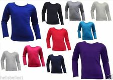 Unbranded Girls' No Pattern Long Sleeve Sleeve T-Shirts, Top & Shirts (2-16 Years)