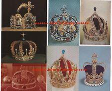 WORLD CROWNS - 7 x Real Photo Postcards Mixed Job Lot ROYAL REGAL Unused