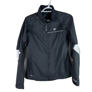 Pearl Izumi Elite Barrier Cycling Jacket Vest Womens L Black Full Zip Road Bike