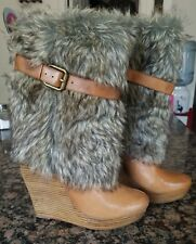 Bebe tan boots 6 in excellent condition