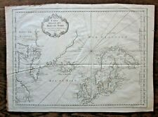 1758 Mers du Nord North Europe America Iceland Arctic Bellin Bear Is Antique Map
