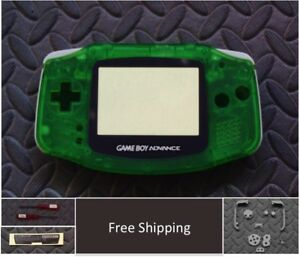 GBA Nintendo Game Boy Advance Replacement Housing Shell Screen -Clear Green USA!