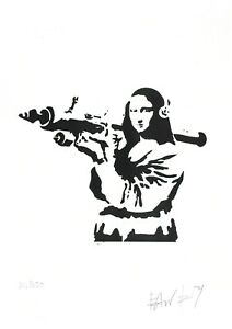 BANKSY - Monna Lisa with rocket launcher