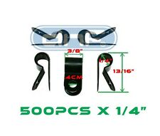 """500 PACK 1/4"""" BLACK NYLON CABLE CLAMP UV WEATHER RESISTANT - SHIPS FREE TODAY!"""