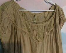 Magnolia Pearl Ottilia Dress in Cotton Silk in Papyrus, OS