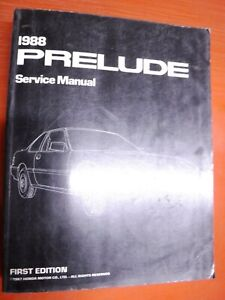 Other Manuals Literature For Honda Prelude For Sale Ebay