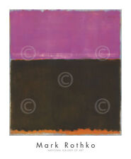Untitled, 1953 by Mark Rothko Art Print Rose Brown Gold Abstract Poster 34x28