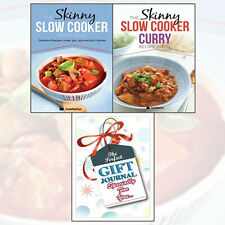 Skinny Slow Cooker Curry Recipe With Gift Journal 2 Books Collection Set NEW