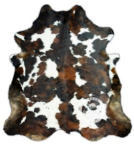Cowhide Rug - Tricolor,High quality, Kuhfell,(M)(L)(XL)(XXL)